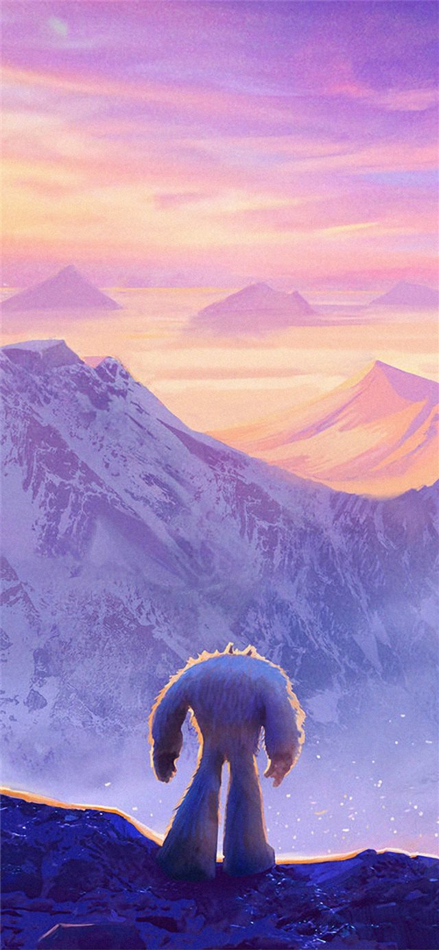 smallfoot movie art iPhone X wallpaper