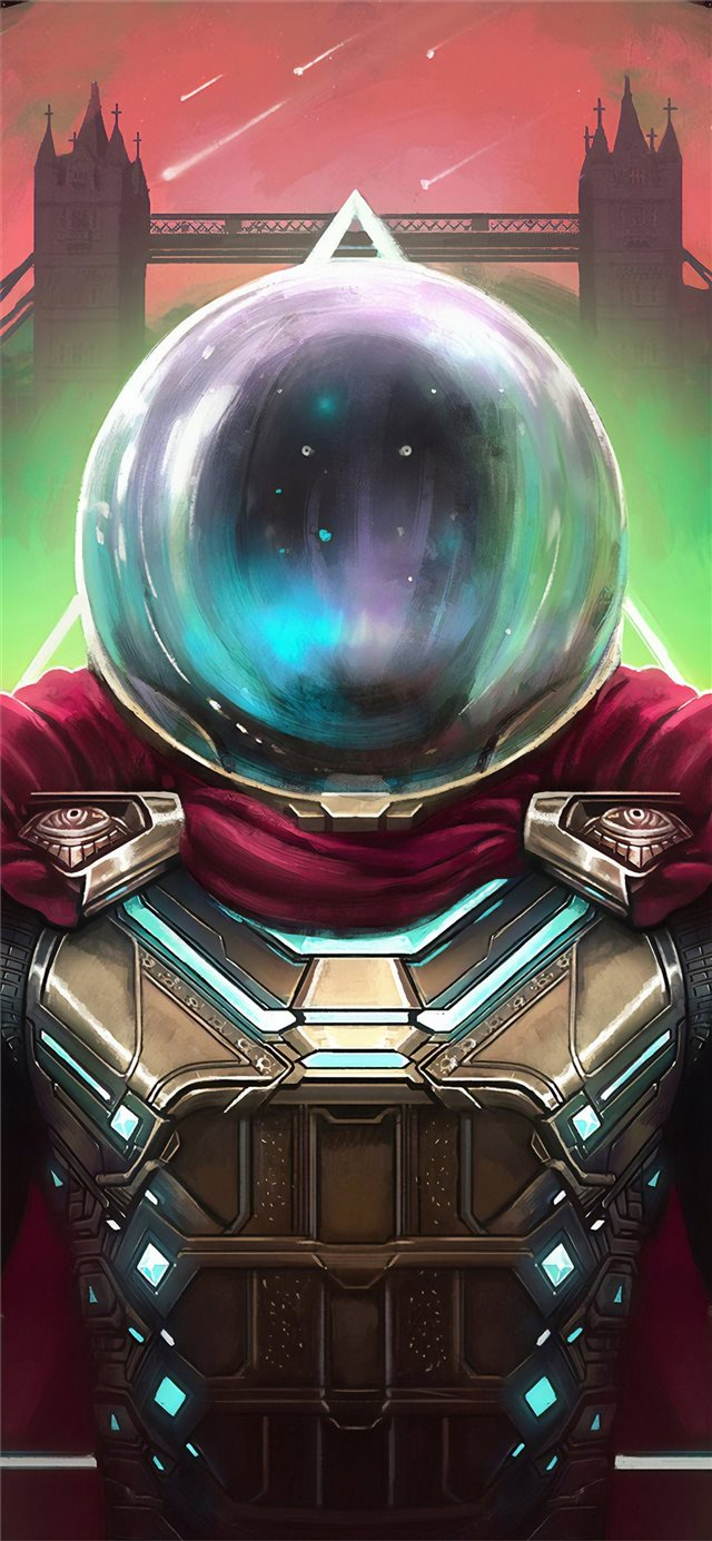 spider man far from home mysterio art 4k iPhone 11 wallpaper