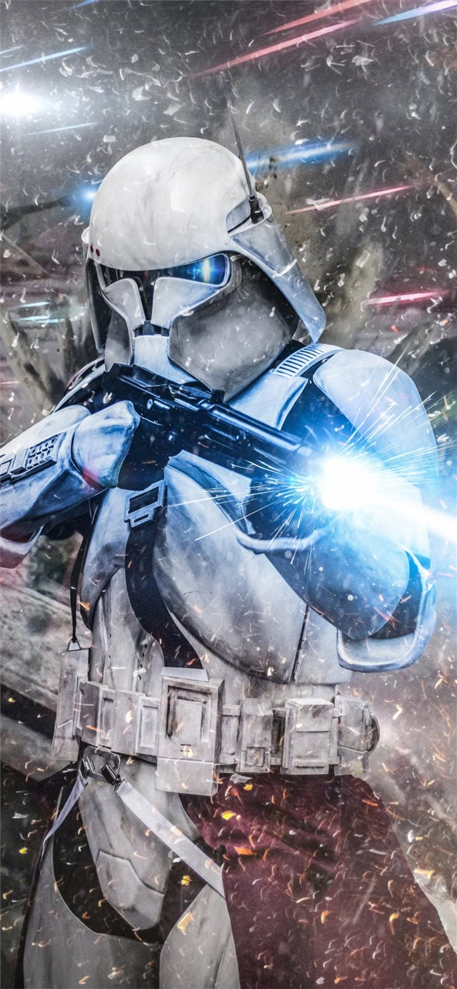 stormtrooper commander iPhone X wallpaper
