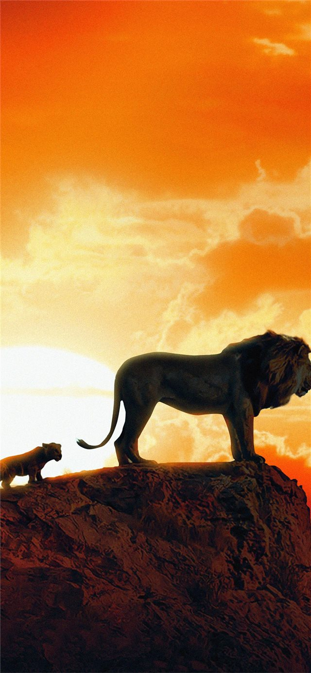 the lion king new poster iPhone 11 wallpaper