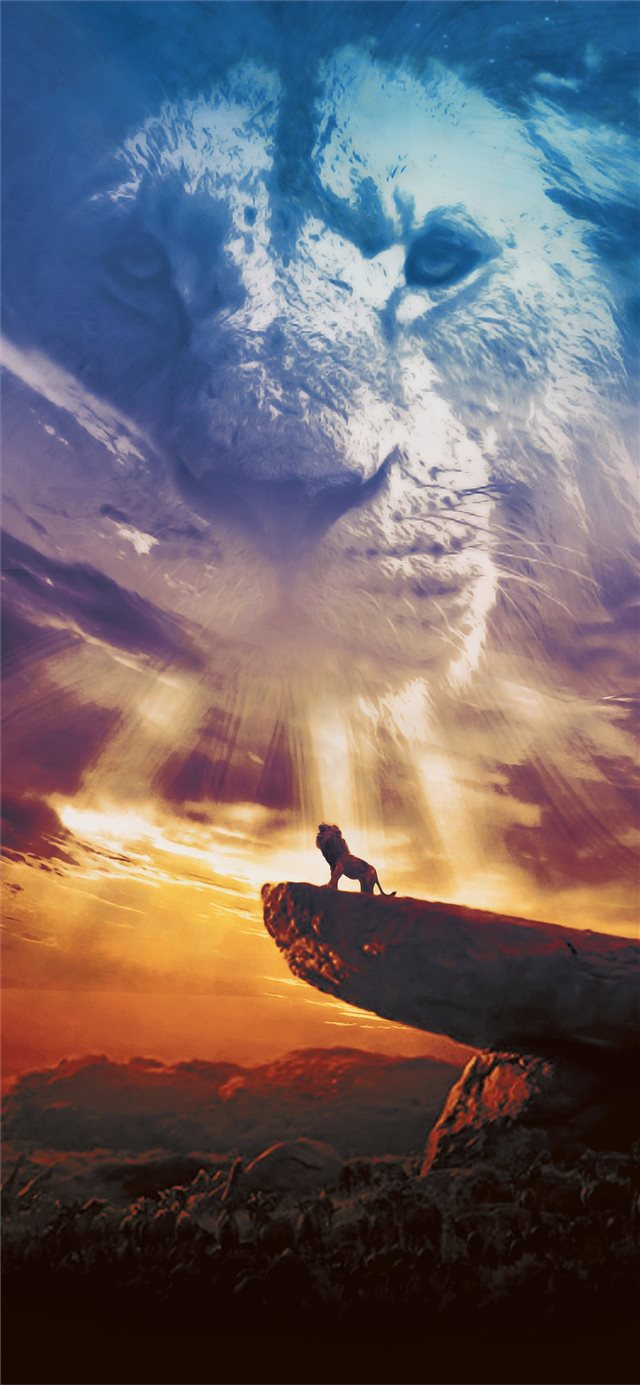the lion king poster 2019 iPhone X wallpaper