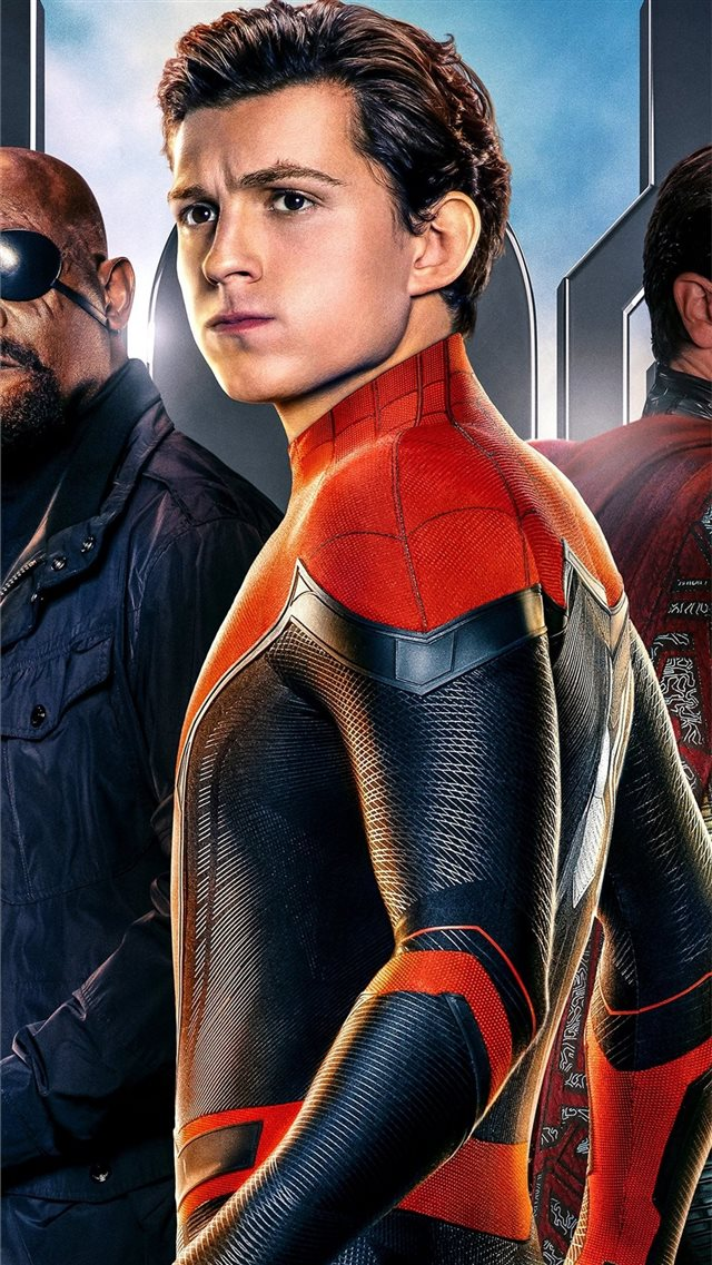 2019 spiderman far from home movie 5k iPhone 8 wallpaper