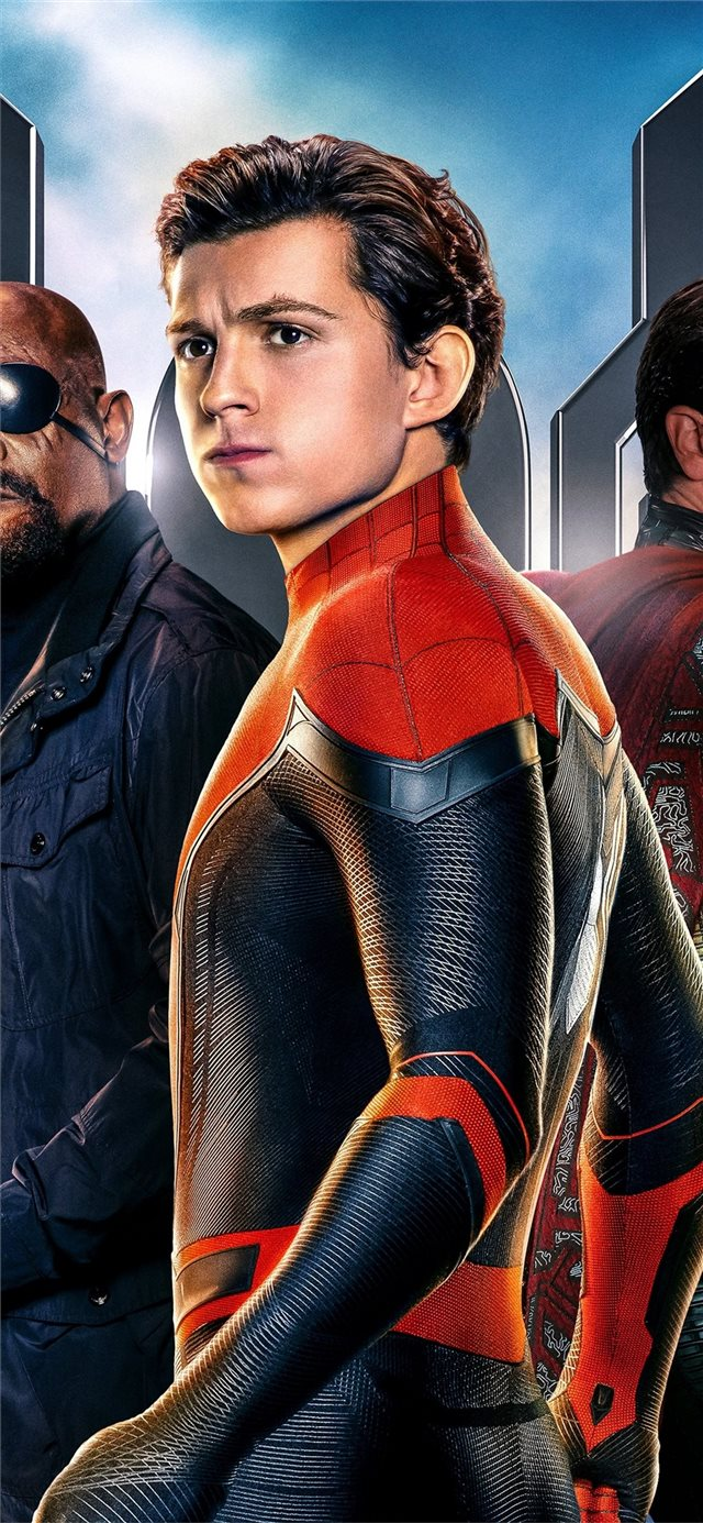 2019 spiderman far from home movie 5k iPhone X wallpaper