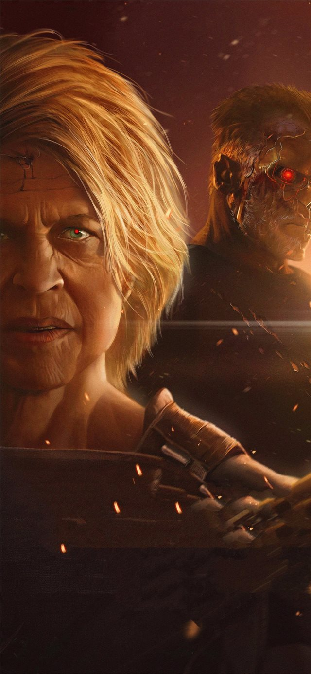2019 terminator dark fate 5k art iPhone 11 wallpaper