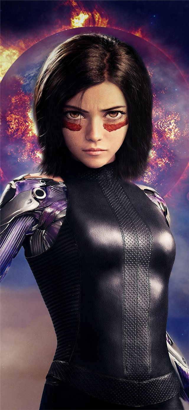 4k alita battle angel iPhone X wallpaper