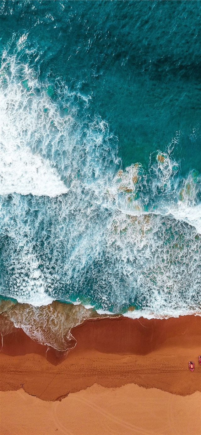 aerial photography of beach iPhone 11 wallpaper