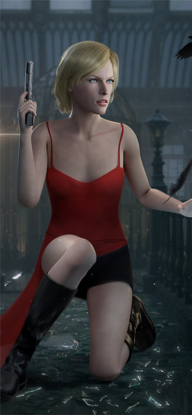 alice resident evil digital art 4k iPhone 11 wallpaper
