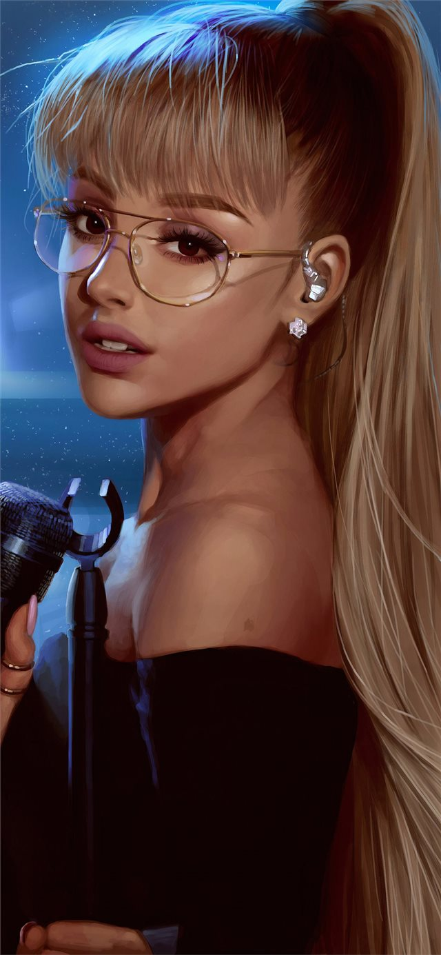 ariana grande art 4k iPhone X wallpaper
