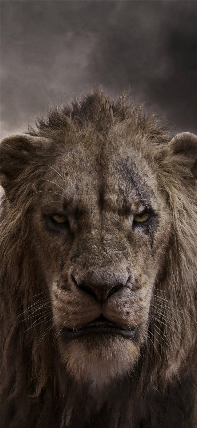 chiwetel ejiofor as scar in the lion king 2019 4k iPhone X wallpaper