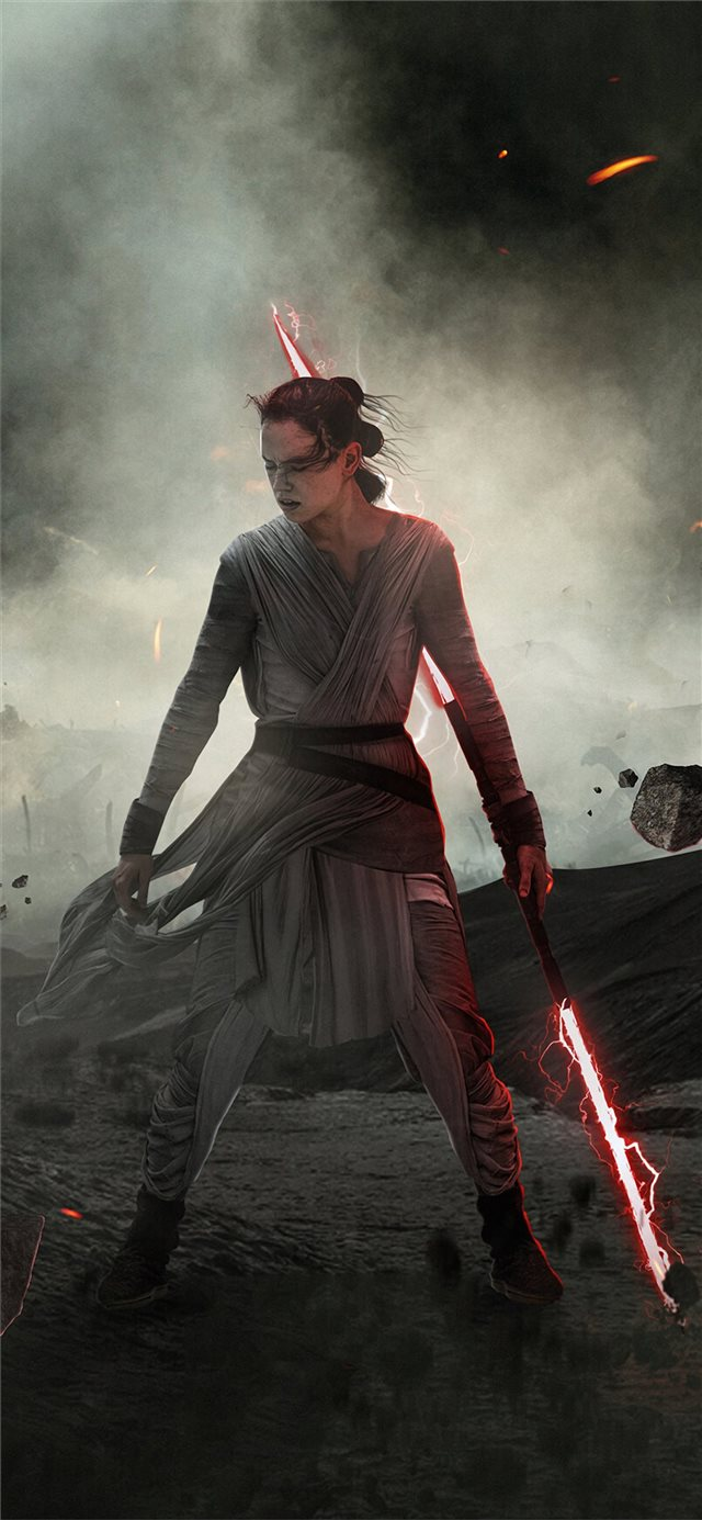 dark rey star wars the rise of skywalker iPhone X wallpaper