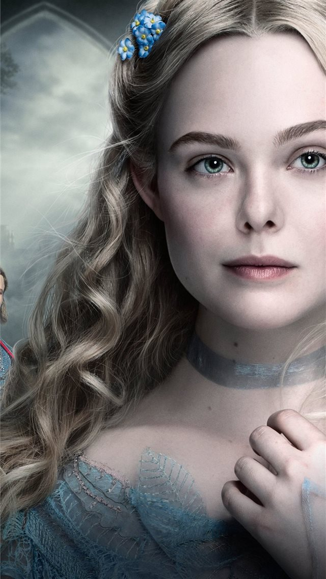 elle fanning as princess aurora in maleficent mist... iPhone SE wallpaper