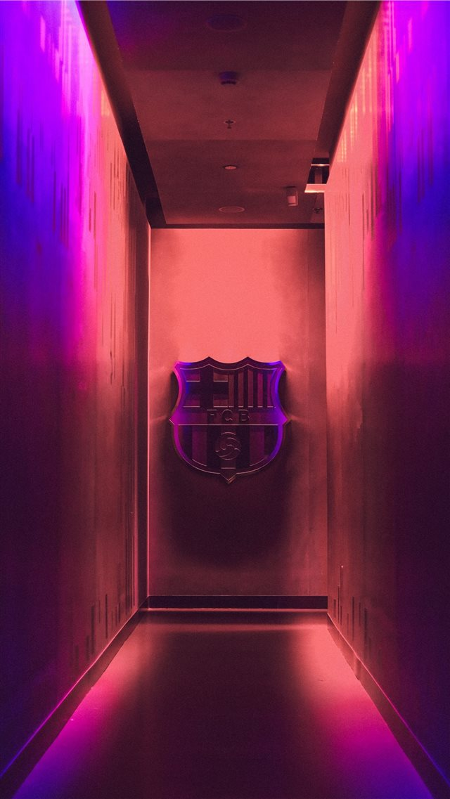 football emblem on wall iPhone 8 wallpaper