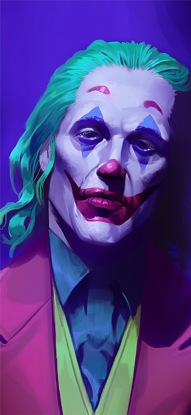 joker 2019 art iPhone X wallpaper