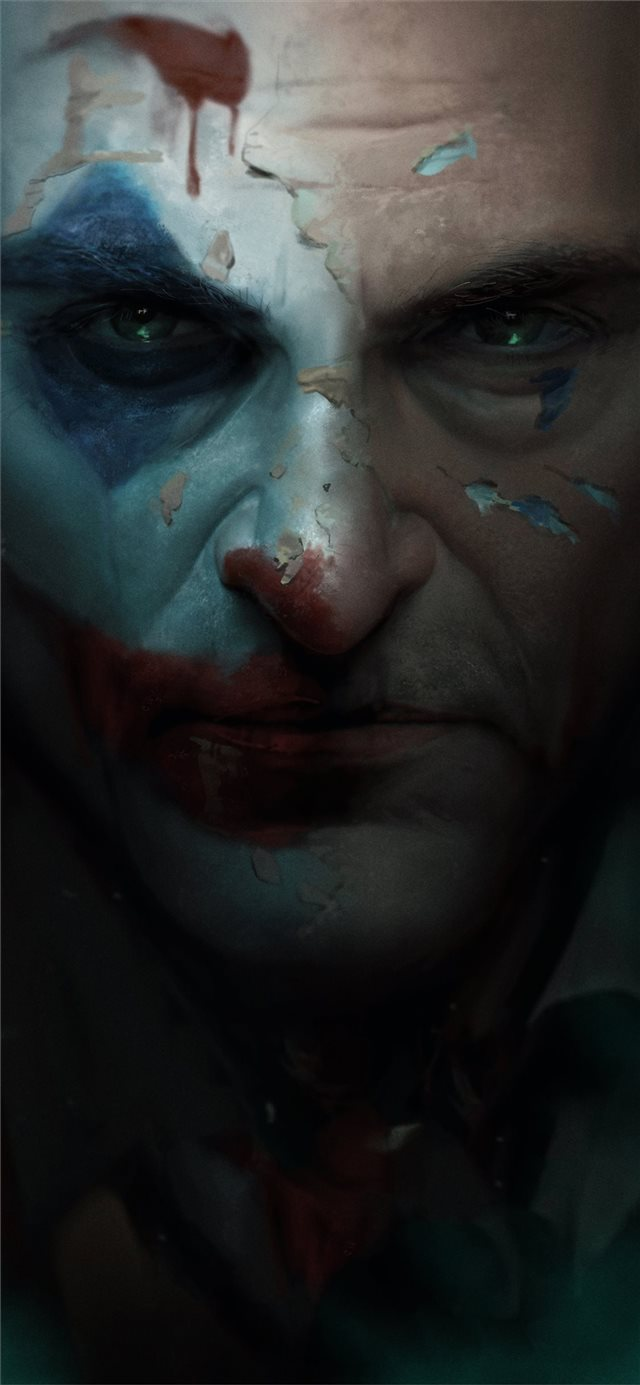 joker movie closeup art iPhone 11 wallpaper