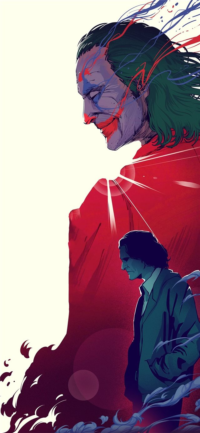 joker movie fall iPhone X wallpaper