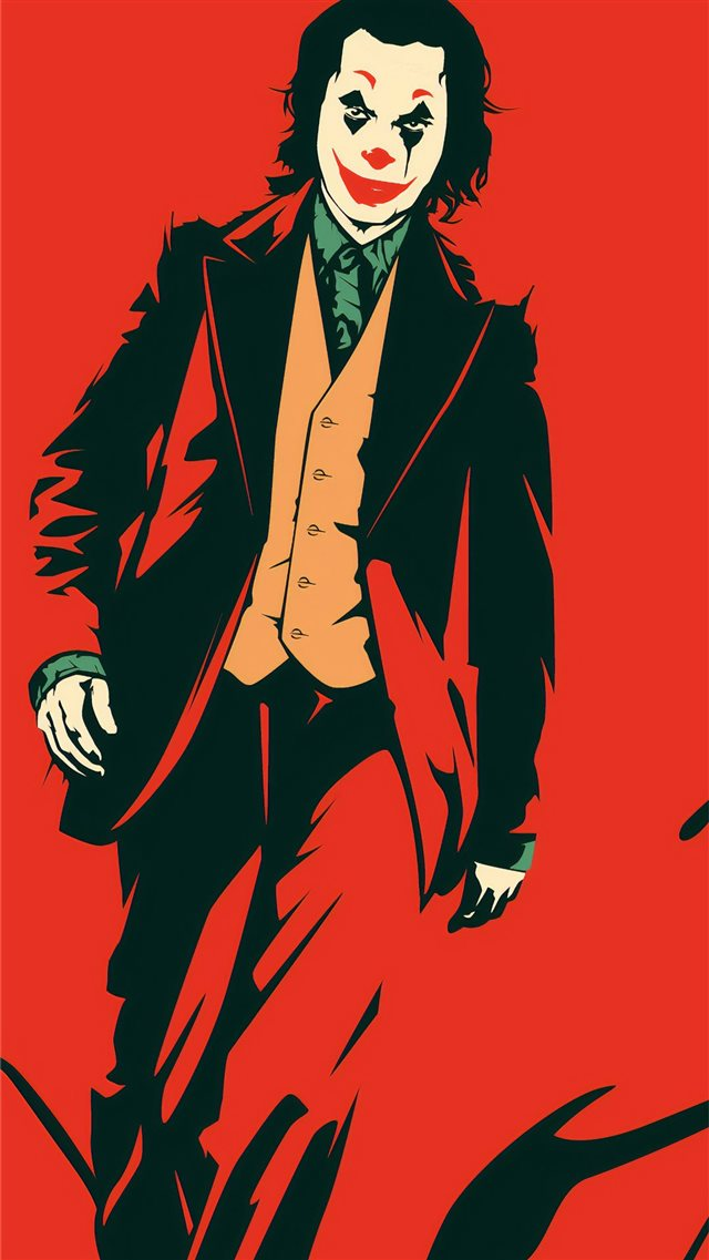 joker red 4k iPhone 8 wallpaper