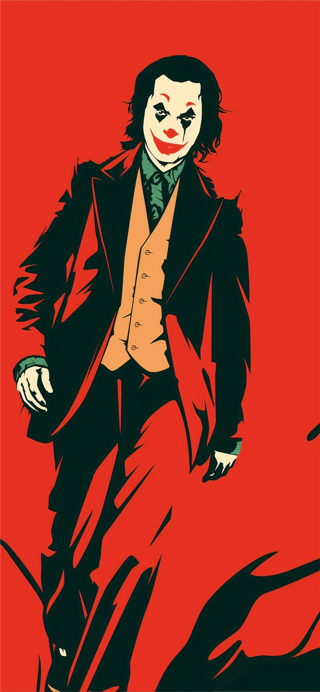 joker red 4k iPhone 11 wallpaper
