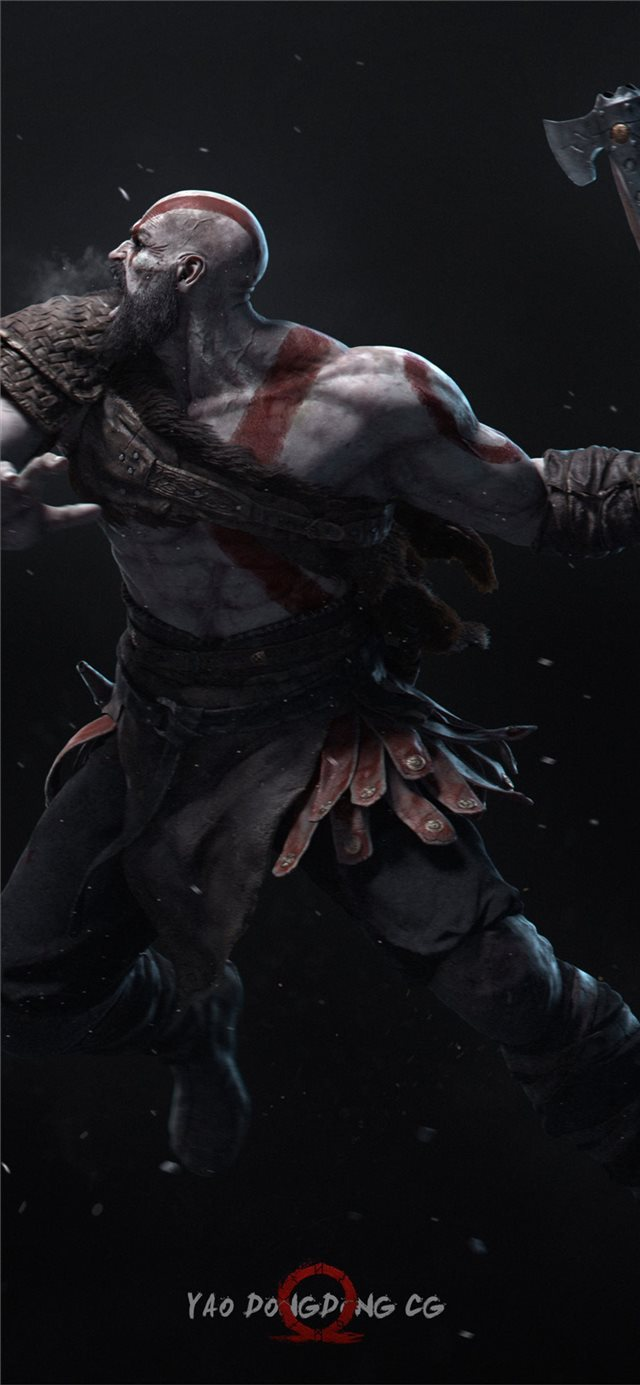 kratos 4k new art iPhone 11 wallpaper