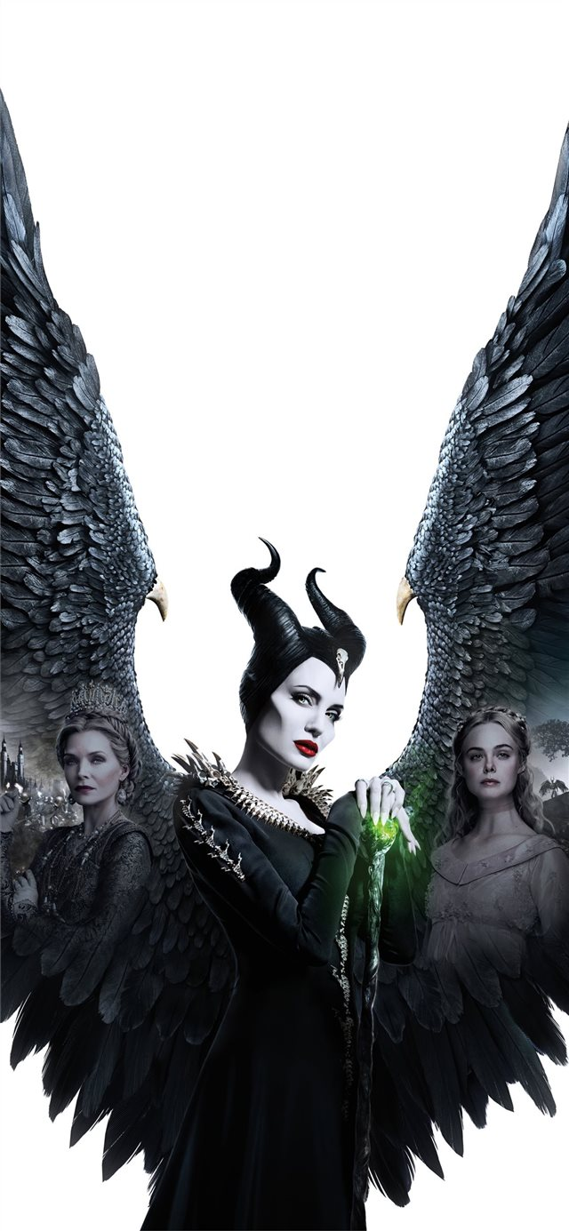 maleficent mistress of evil 5k 2019 poster iPhone X wallpaper