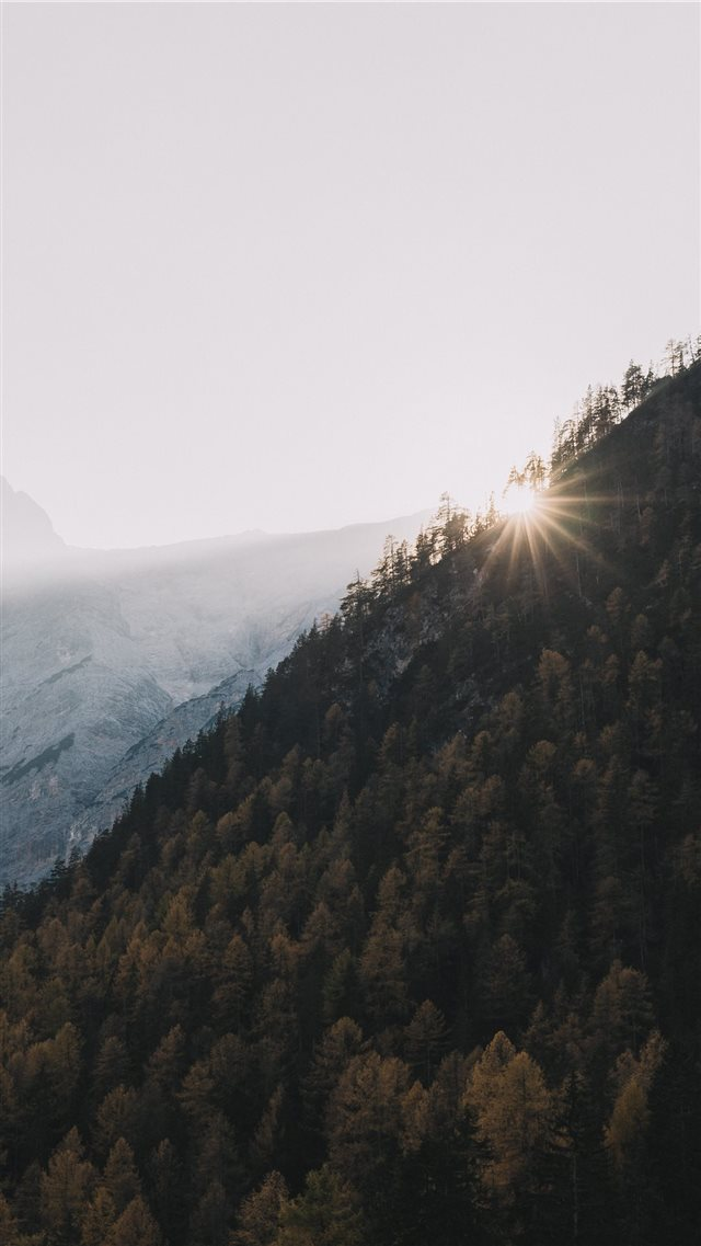 mountain at daytime iPhone 8 wallpaper