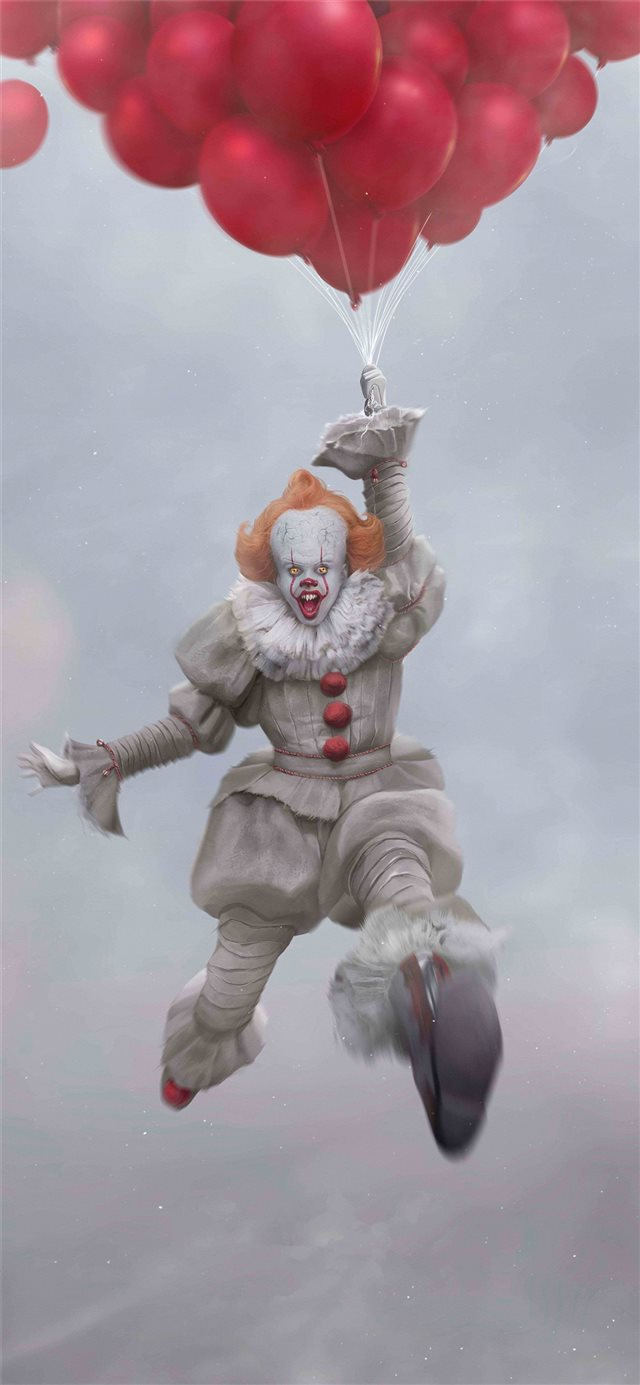 pennywise 8k iPhone X wallpaper