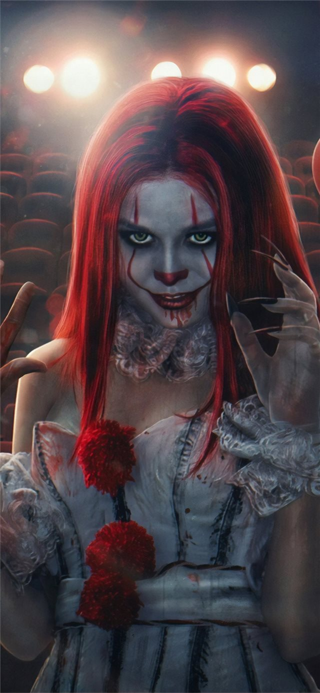 pennywise clone girl iPhone X wallpaper