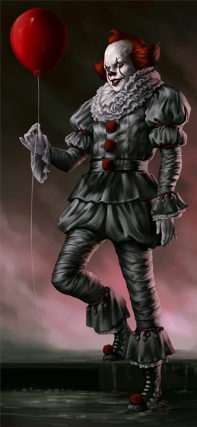 pennywise the dancing clown iPhone X wallpaper