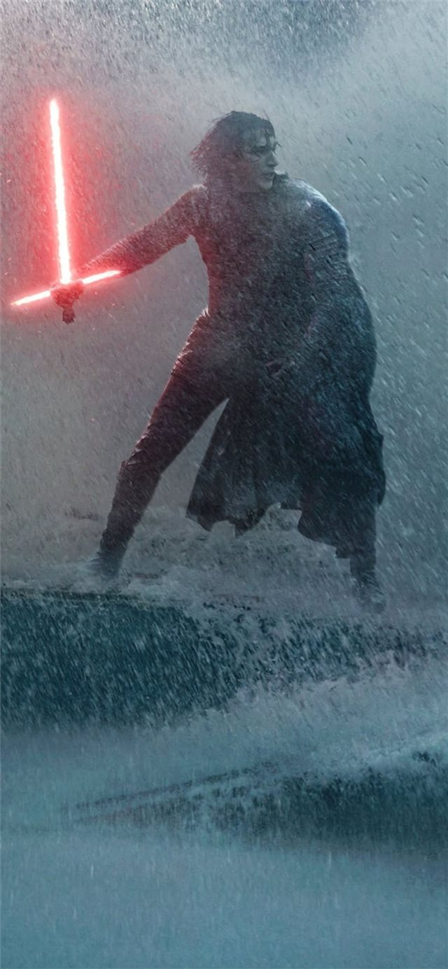 rey and kylo ren art 4k iPhone 11 wallpaper