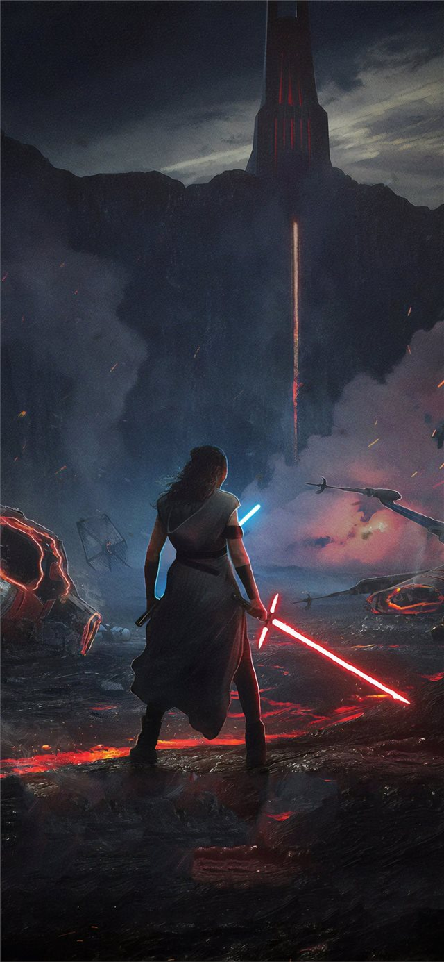 rey star wars the rise of skywalker 2019 new iPhone X wallpaper
