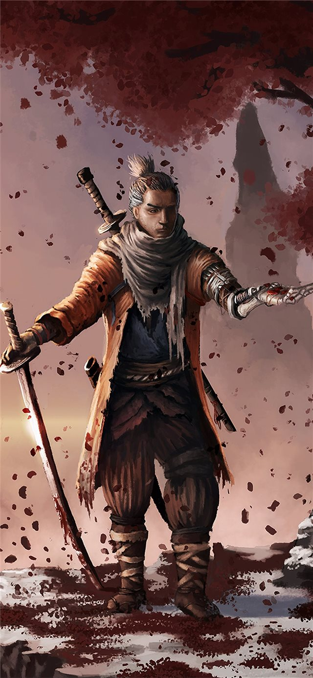 sekiro shadows die twice game fanart 4k iPhone X wallpaper