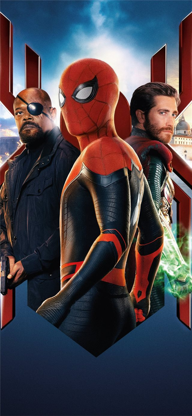 spiderman far from home 2019 movie iPhone X wallpaper