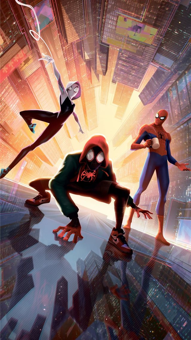 spiderman into the spider verse new new 5k iPhone SE wallpaper