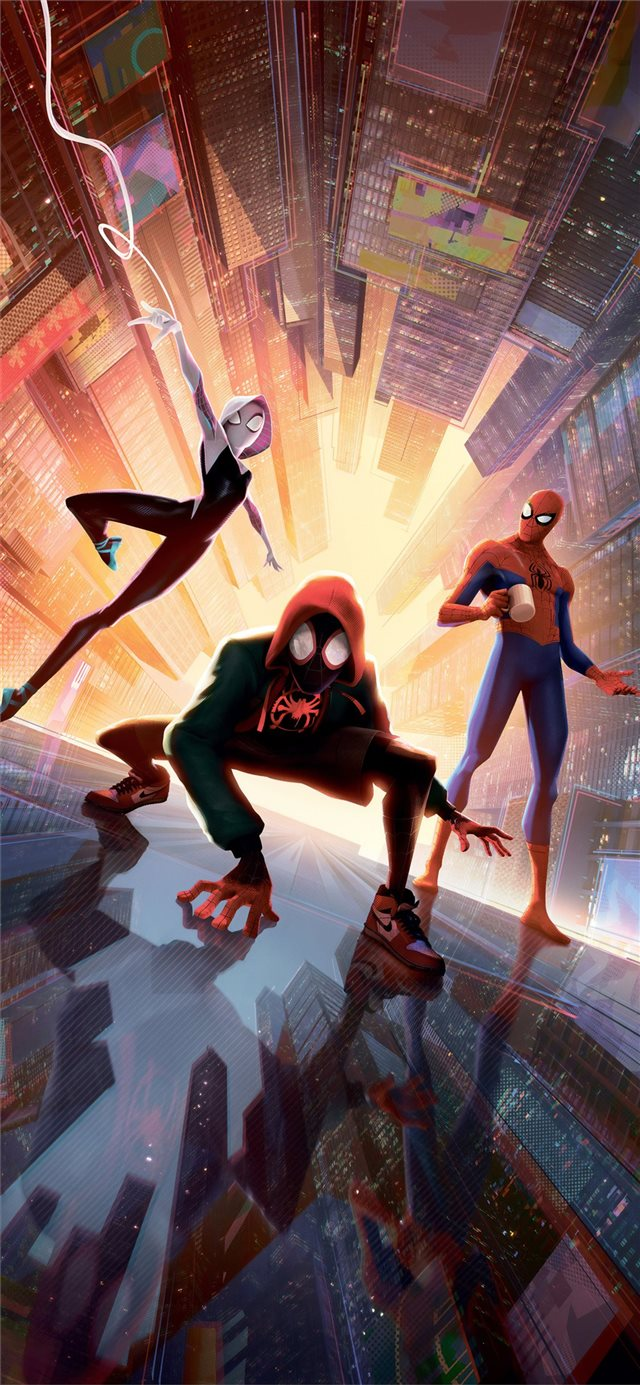 spiderman into the spider verse new new 5k iPhone X wallpaper