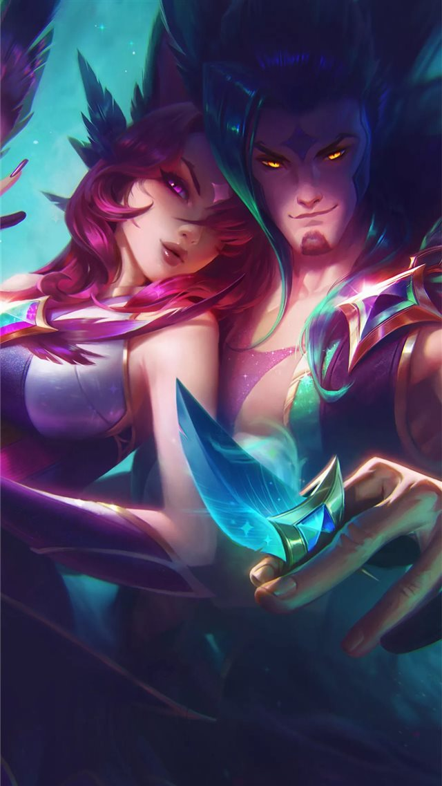 star guardian xayah and rakan iPhone SE wallpaper