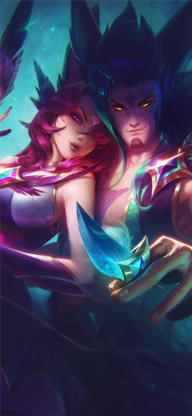 star guardian xayah and rakan iPhone X wallpaper