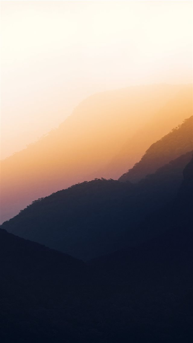 sunrise view on mountain iPhone 8 wallpaper