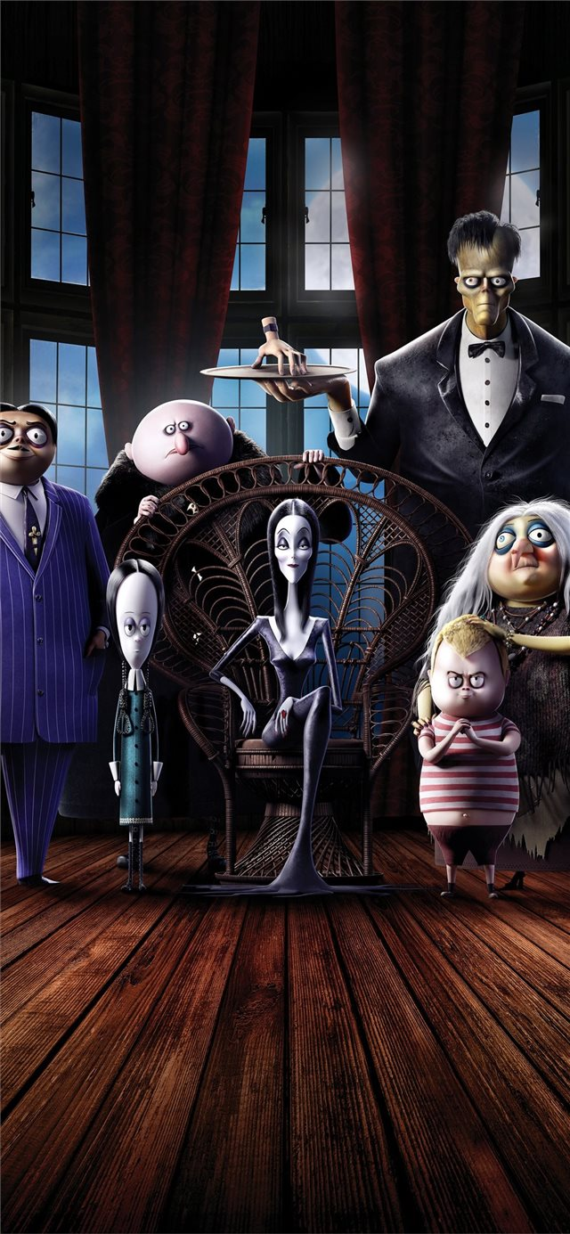 the addams family 8k movie 2019 iPhone 11 wallpaper