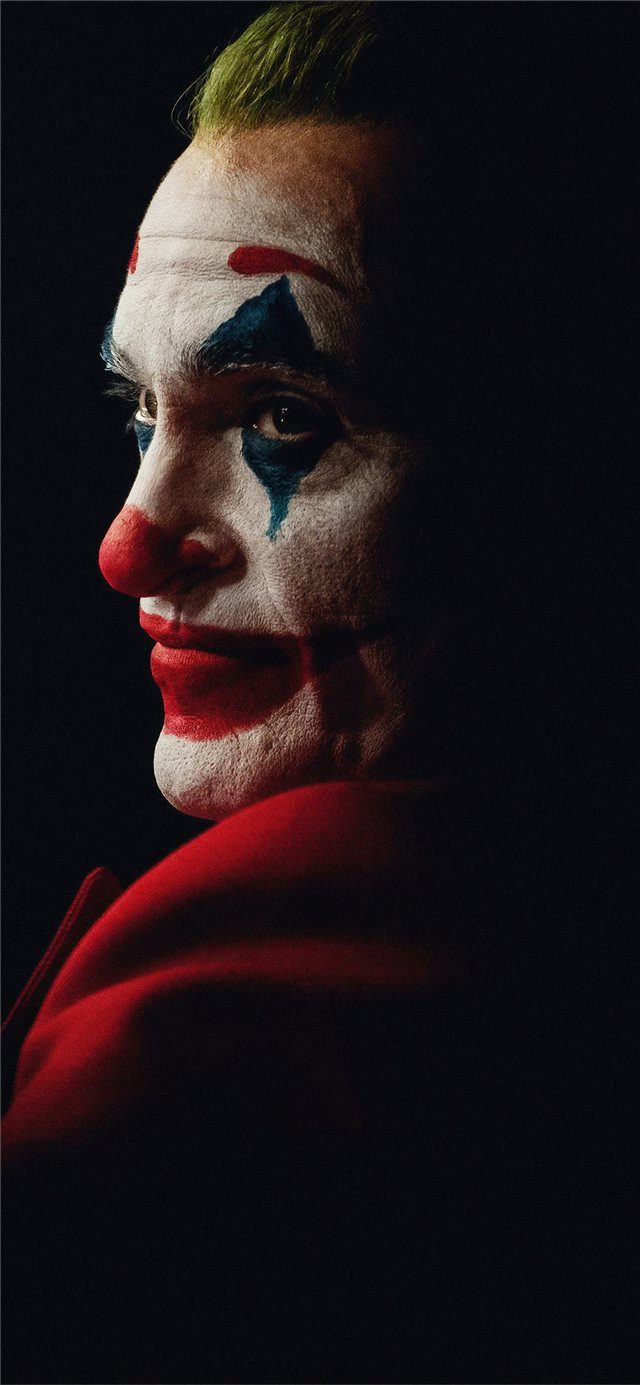the joker joaquin phoenix dark 4k iPhone X wallpaper