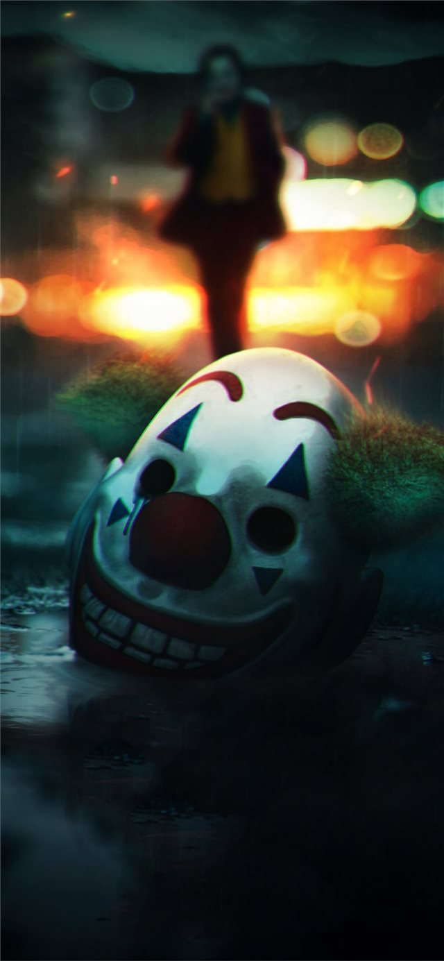 the joker mask off iPhone X wallpaper