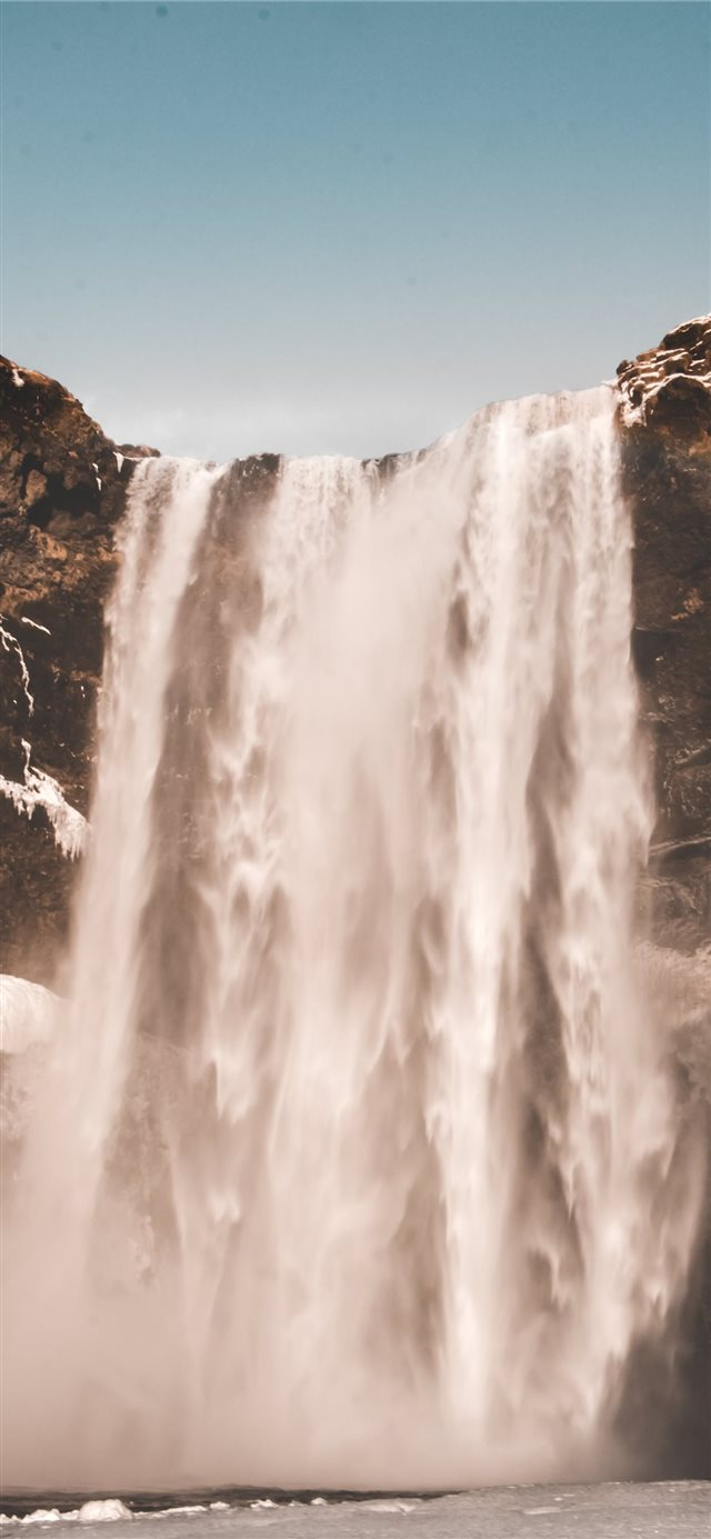 waterfalls during daytime iPhone X wallpaper