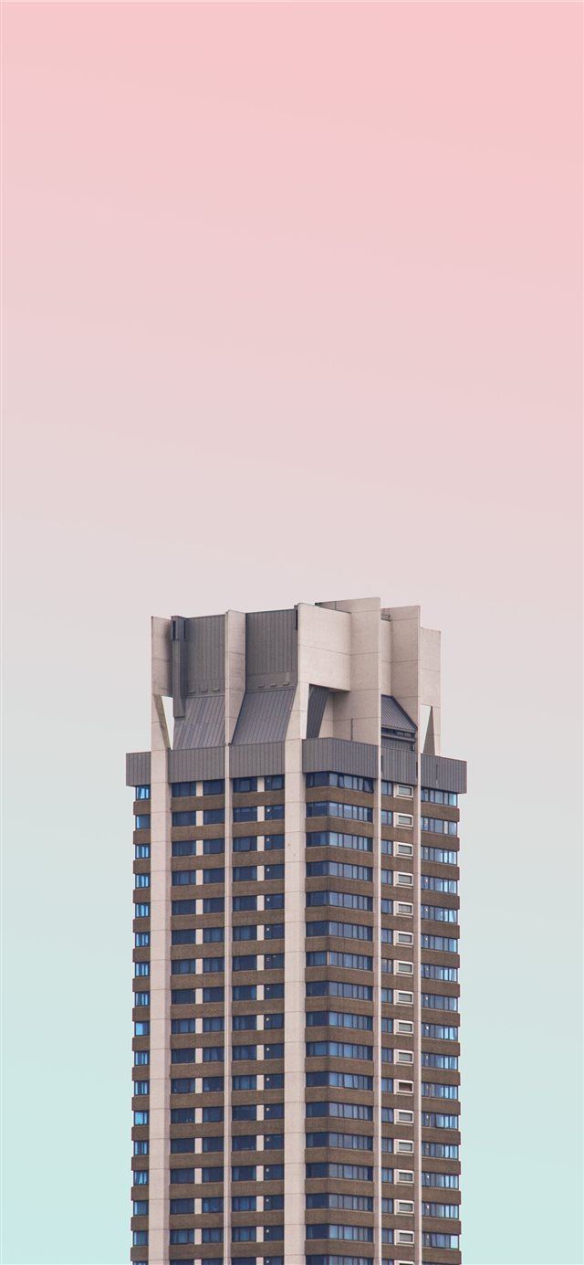 white and black high rise building with glasses iPhone X wallpaper