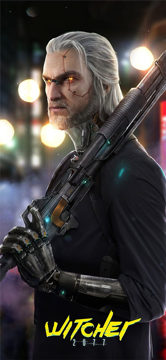 witcher 2077 cyberpunk iPhone 11 wallpaper