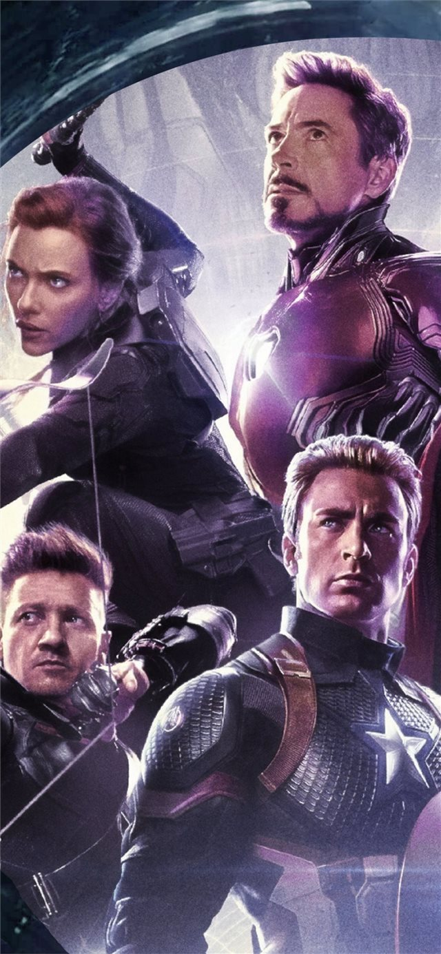 4k 2019 avengers endgame original six iPhone 11 wallpaper