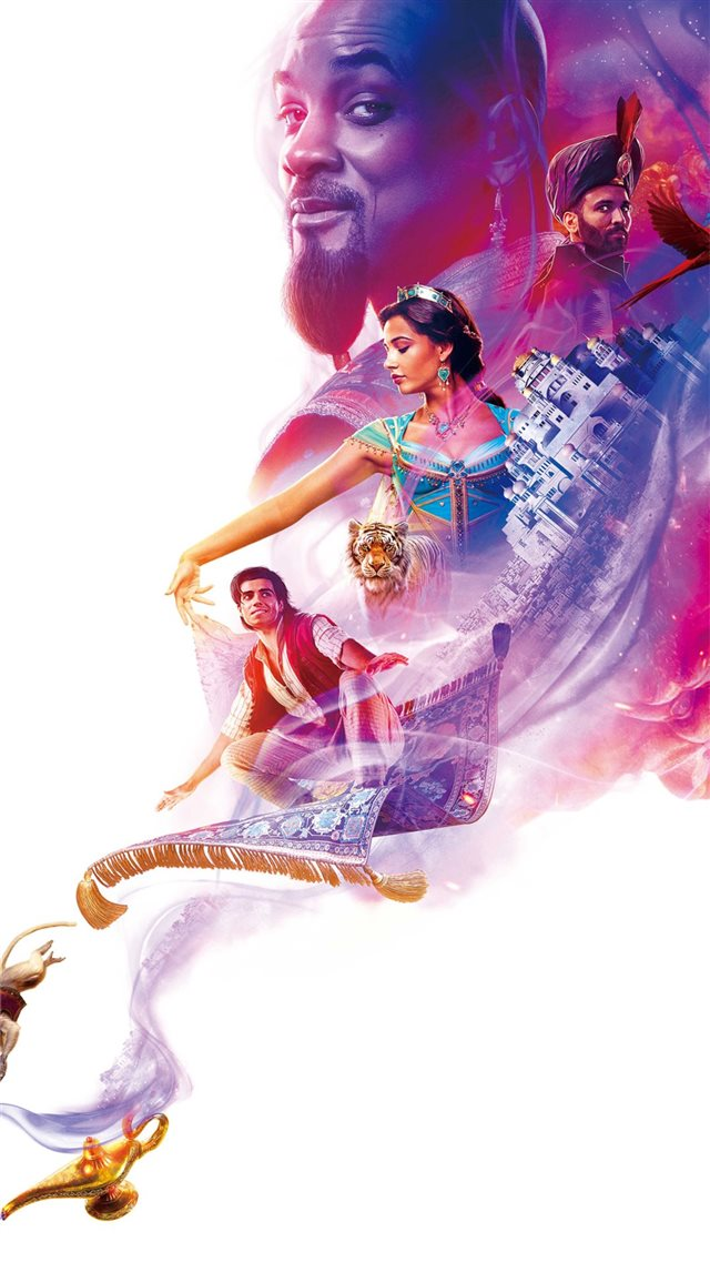 aladdin movie poster 4k iPhone 8 wallpaper