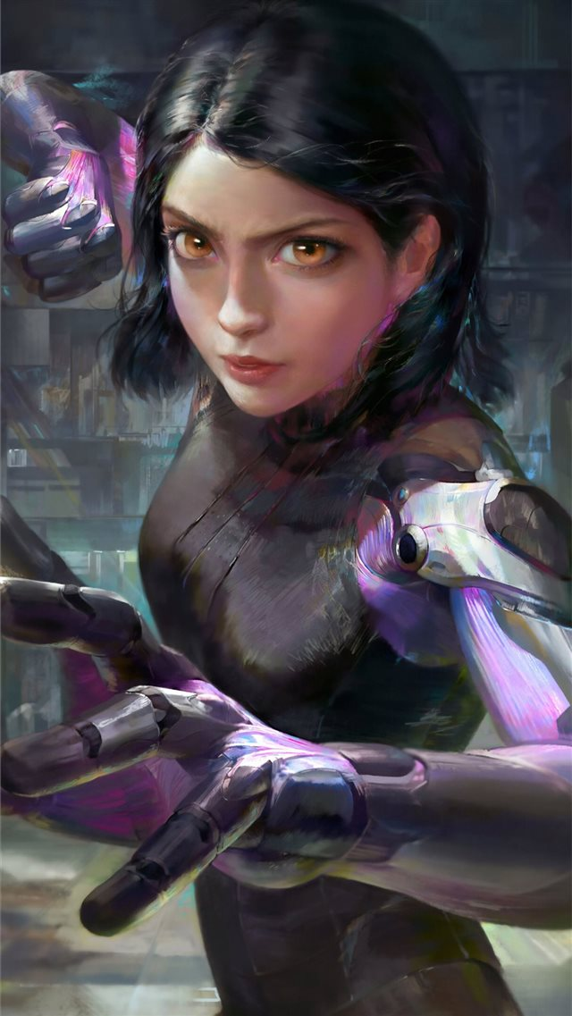 alita battle angel 4k art iPhone SE wallpaper