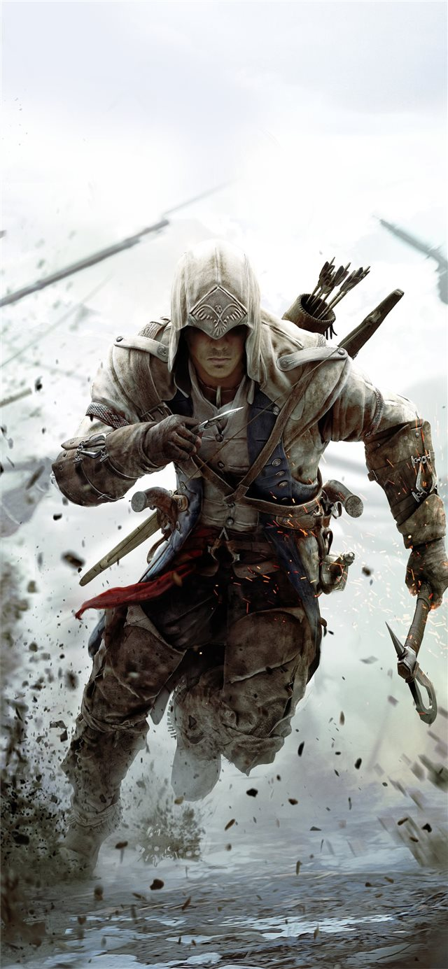 assassins creed 3 10k iPhone X wallpaper