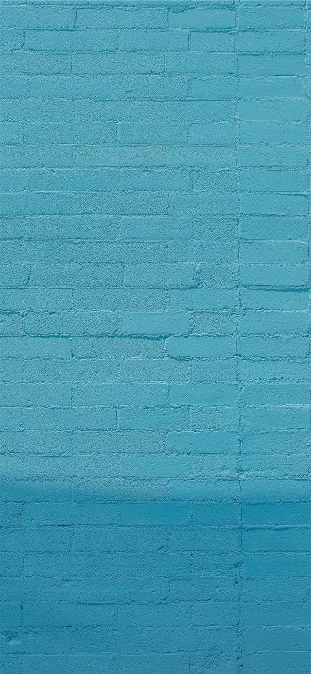 blue wall bricks iPhone 11 wallpaper