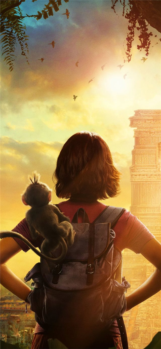 dora and the lost city of gold 2019 poster iPhone X wallpaper
