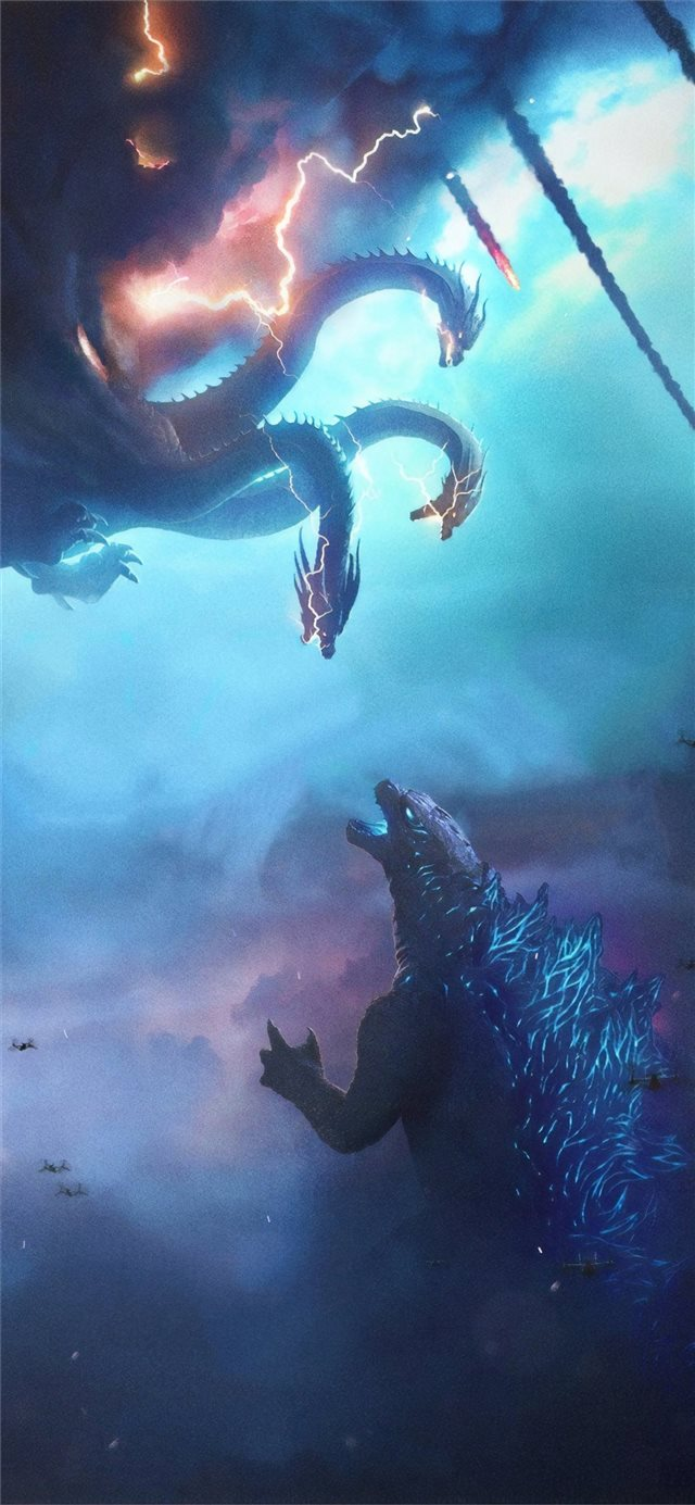 godzilla king of the monsters movie poster iPhone 11 wallpaper