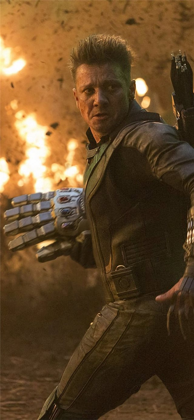hawkeye in avengersendgame iPhone X wallpaper